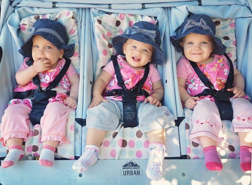5d68d211bf244 I had a Singleton then twins then triplets 5d572b092a97c  880 - Mãe de gêmeos e depois trigêmeos documenta sua família em fotos adoráveis