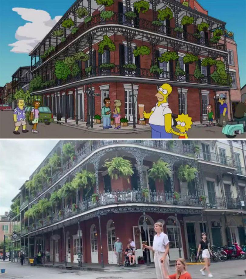 "5d6cc3ee0638b An episode of The Simpsons recreated in real life fun by two fans 5d678f68a3373 700 - Mulher recria cenas de Homer de ""Os Simpsons"" comendo em restaurantes"