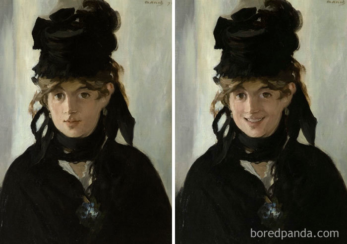 5d7602f0b95cf famous paintings portraits faceapp 6 5d721f2e537cc  700 - Com um sorriso é sempre melhor