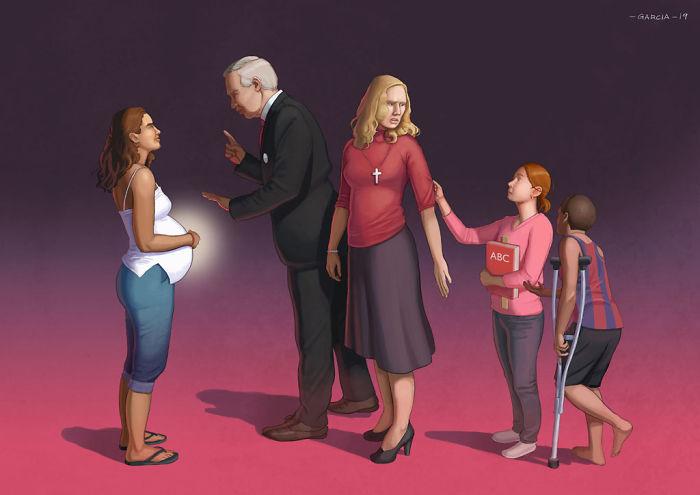 5d8dbd1ac7bd2 50 Brutally Shocking Illustrations that tell whats Wrong with our Society 5d8a0d1989826  700 - 35 ilustrações instigantes que mostram o que há de errado com nossa sociedade