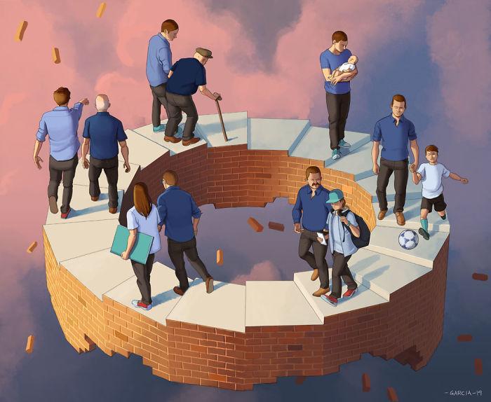 5d8dbd1b8fa45 50 Brutally Shocking Illustrations that tell whats Wrong with our Society 5d8a0d61b7688  700 - 35 ilustrações instigantes que mostram o que há de errado com nossa sociedade