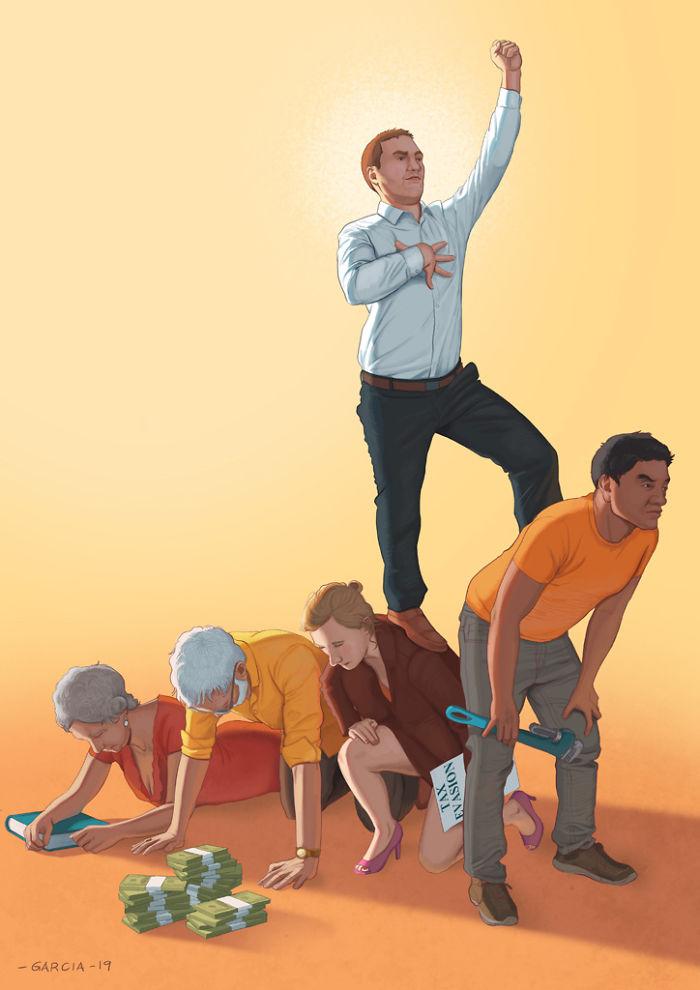 5d8dbd1c0b696 50 Brutally Shocking Illustrations that tell whats Wrong with our Society 5d8a0f529ce29  700 - 35 ilustrações instigantes que mostram o que há de errado com nossa sociedade