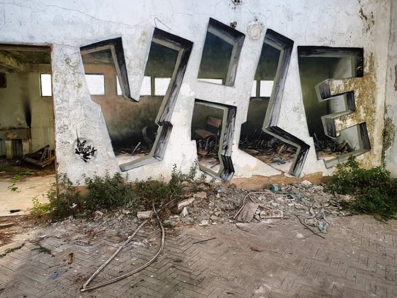 amazing transparent graffiti vile 32 - Português faz as paredes parecerem transparentes usando nada além de tinta Spray