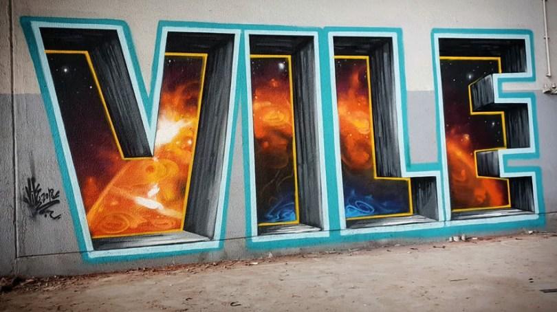 amazing transparent graffiti vile 9 - Português faz as paredes parecerem transparentes usando nada além de tinta Spray