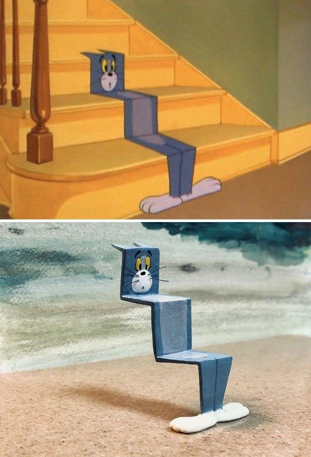 5e05b9c08f357 funny tom and jerry sculpture taku inoue 50 5e04739cb4215  700 - 27 esculturas hilárias inspiradas nos momentos de Tom e Jerry