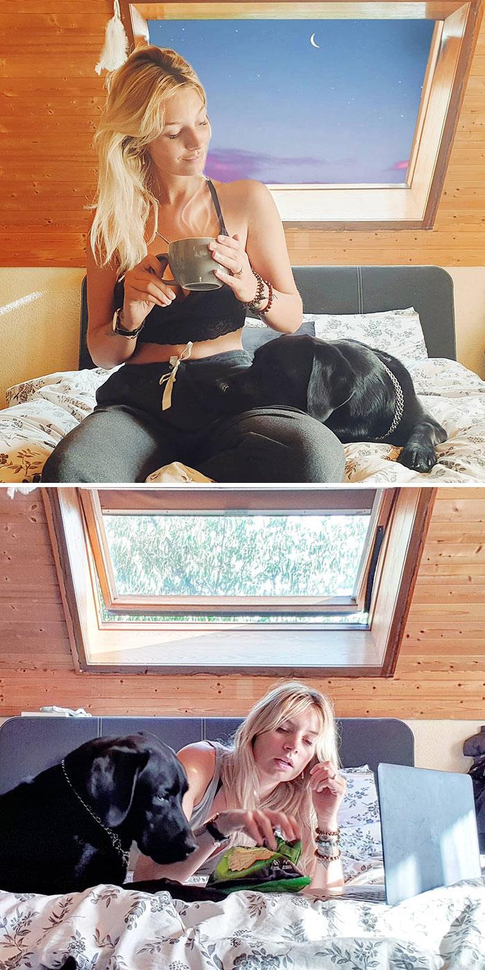 5e1443146cdae instagram vs reality kim britt 3 5e0df32476016  700 - Blogueira compara fotos do Instagram com a realidade