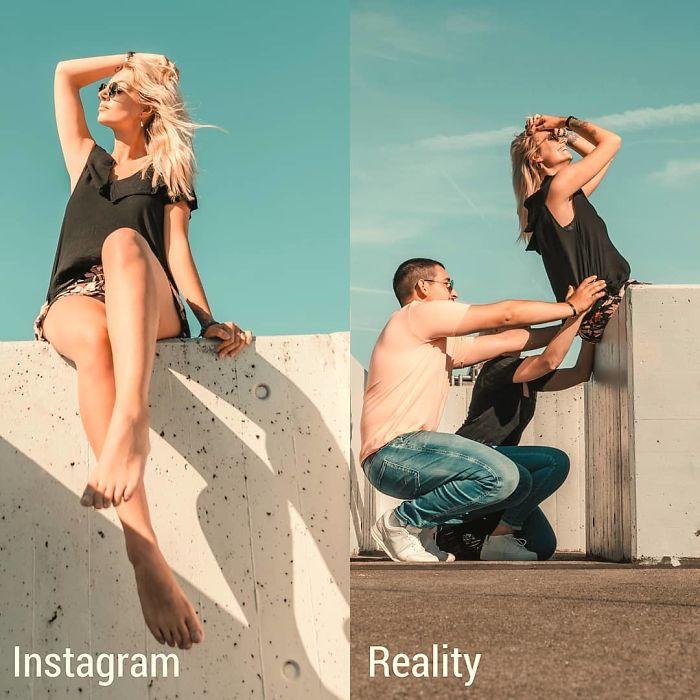 5e14431515274 instagram vs reality kim britt 30 5e0df35c1600c  700 - Blogueira compara fotos do Instagram com a realidade