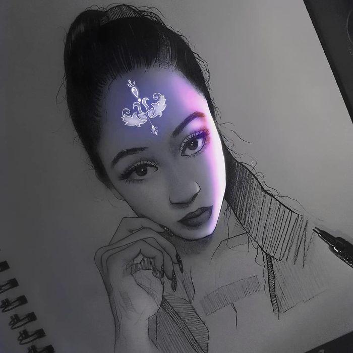 5e4b9f69cf3b8 B4lXmj0J0EE png  700 - Técnica única deste artista faz parecer que seus desenhos estão brilhando