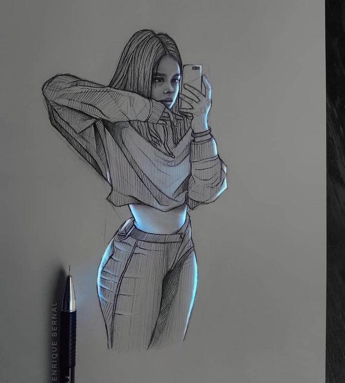 5e4b9f6a00870 B4GI7haJwiN png  700 - Técnica única deste artista faz parecer que seus desenhos estão brilhando