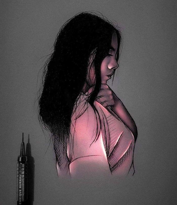 5e4b9f6a2f48a B7nqGMghf E png  700 - Técnica única deste artista faz parecer que seus desenhos estão brilhando