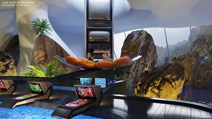 5e5e0b973ddf1 04a 6 rooms of the future Game room 5e584c3d7720c  700 - Como as Revistas do passado imaginavam que estaríamos vivendo no futuro?