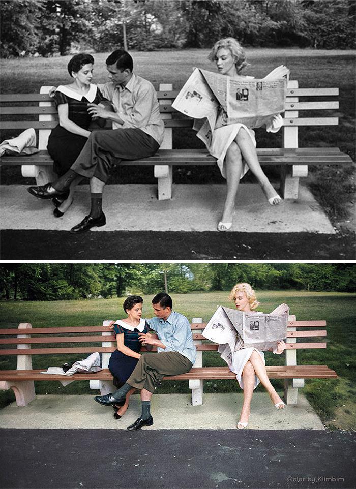 5e69f0bd91335 This Russian artist impresses by giving vivid colors to photos of celebrities from the past 5e679ade636d8 png  700 - Fotos antigas coloridas de estrelas clássicas de Hollywood