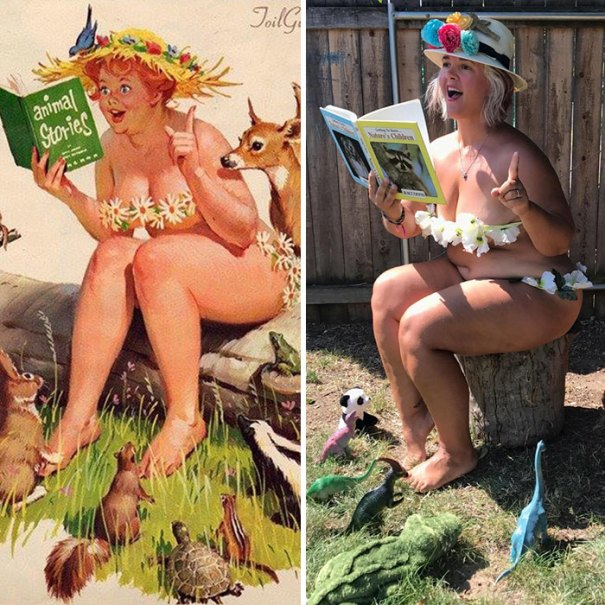 5e6b42c1491c7 pinup girl hilda recreation amy pence brown 15 5e69fcfb1a09e  700 - Esta mulher recriou a aparência de uma garota esquecida de pin-up dos anos 50
