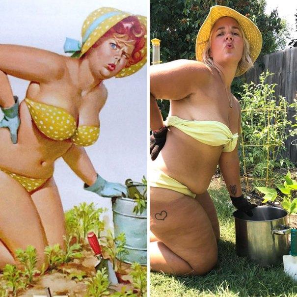 5e6b42c273c88 pinup girl hilda recreation amy pence brown 7 5e69fb34d8786  700 - Esta mulher recriou a aparência de uma garota esquecida de pin-up dos anos 50