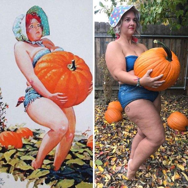 5e6b42c336ce4 pinup girl hilda recreation amy pence brown 9 5e69fbaac013f  700 - Esta mulher recriou a aparência de uma garota esquecida de pin-up dos anos 50