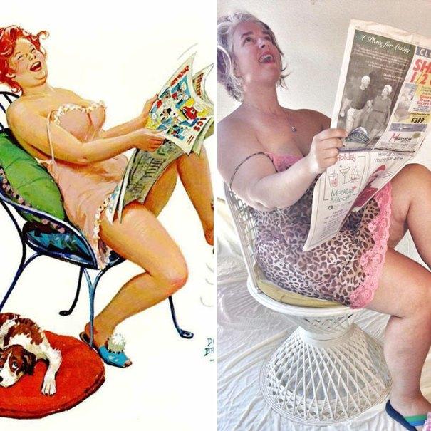 5e6b42c47912d pinup girl hilda recreation amy pence brown 13 5e69fca165b9e  700 - Esta mulher recriou a aparência de uma garota esquecida de pin-up dos anos 50