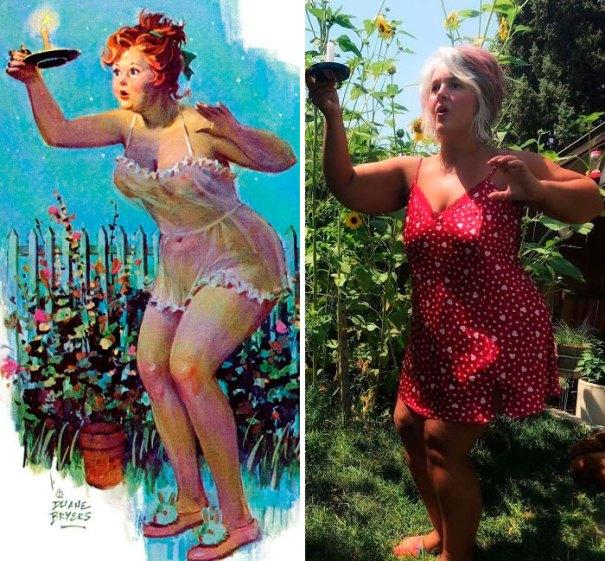 5e6b42c526125 pinup girl hilda recreation amy pence brown 25 5e69ff56e2fb0  700 - Esta mulher recriou a aparência de uma garota esquecida de pin-up dos anos 50
