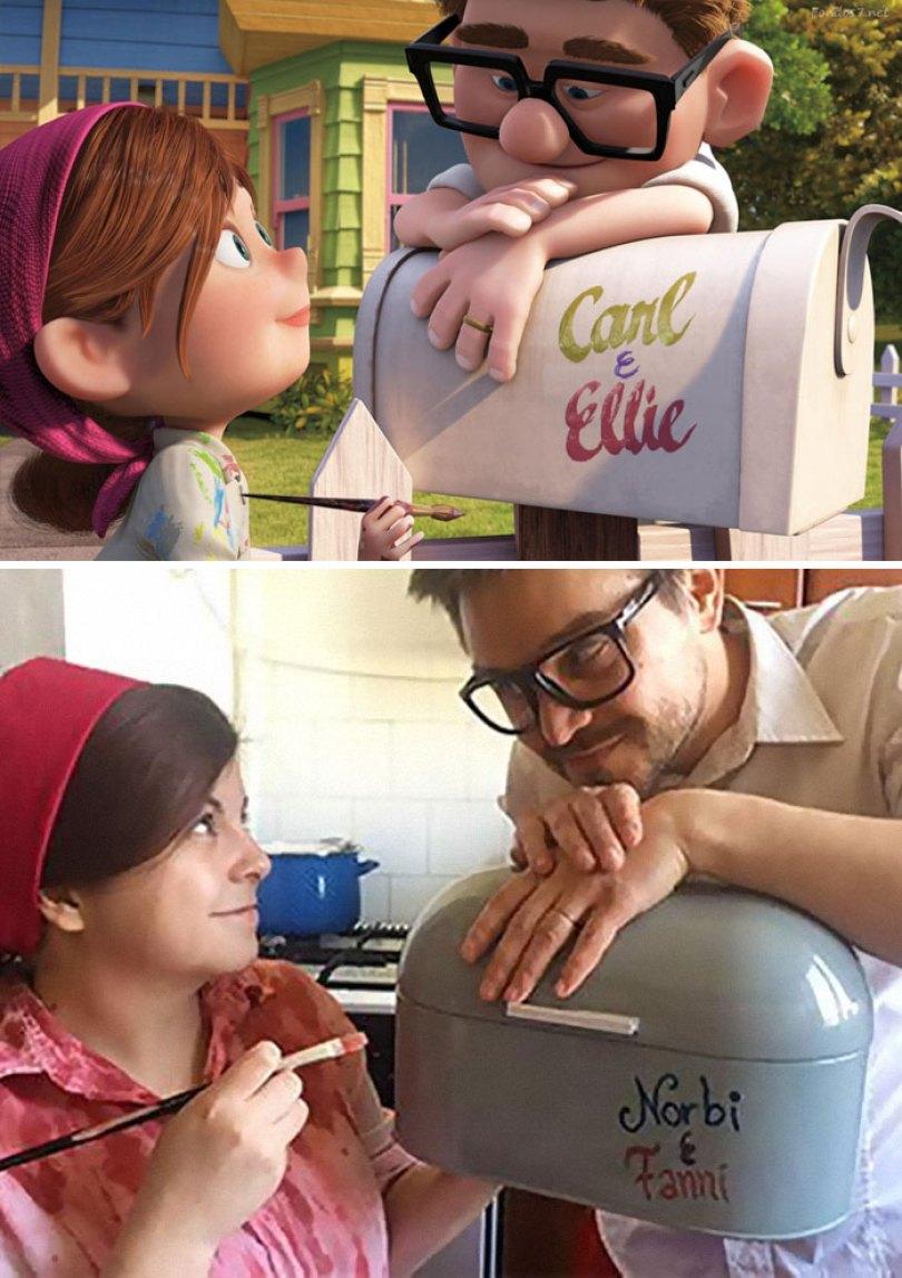 5e96b10100a75 couple recreates famous movie scenes 27 5e956e1fb8786  700 - Casal em quarentena resolveu passar o tempo recriando cenas de filmes famosos