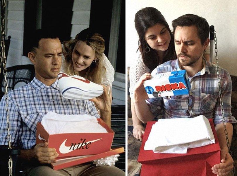5e96b104545b8 couple recreates famous movie scenes 45 5e958a1f2ac41  700 - Casal em quarentena resolveu passar o tempo recriando cenas de filmes famosos