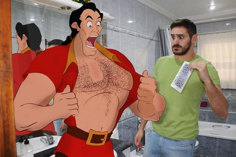 5f6320d09b93e This guy is interacting on adventures with cartoon characters and the result is really fun 5f6062e4abf5a  880 - Artista mostra seu cotidiano com os personagens da Disney