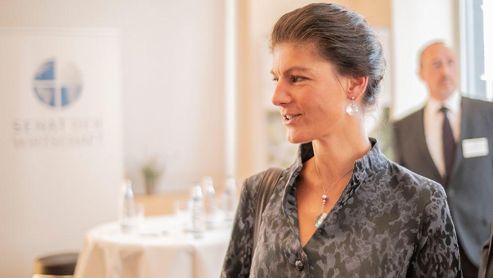 Dr. Sahra Wagenknecht im Senat der Wirtschaft