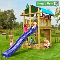 Jungle Gym Spielturm FORT Kletterturm mit Rutsche Holzturm ...