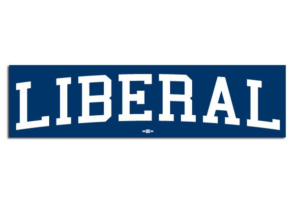 liberal bumper sticker