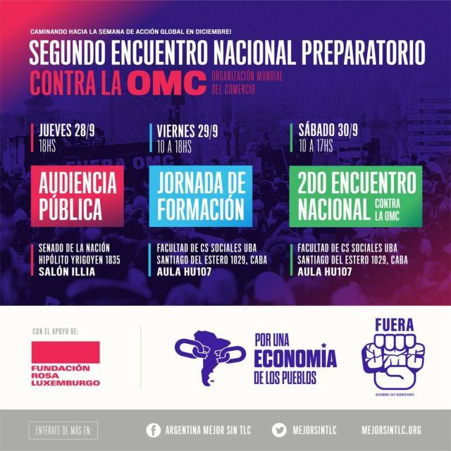 Segundo encuentro nacional preparatorio contra la OMC
