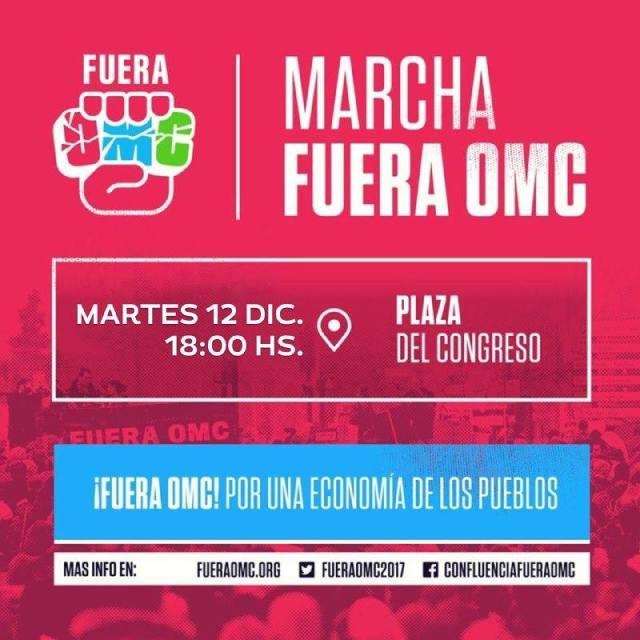 HOY 18 hs – Marcha #FueraOMC || #CumbreDeLosPueblos
