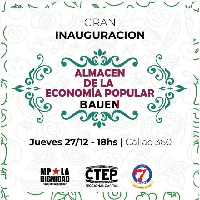 Inauguración de Almacén de la Economía Popular