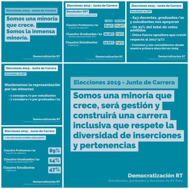 📊 Breve balance de las Elecciones de Junta de Carrera 2019 🗳