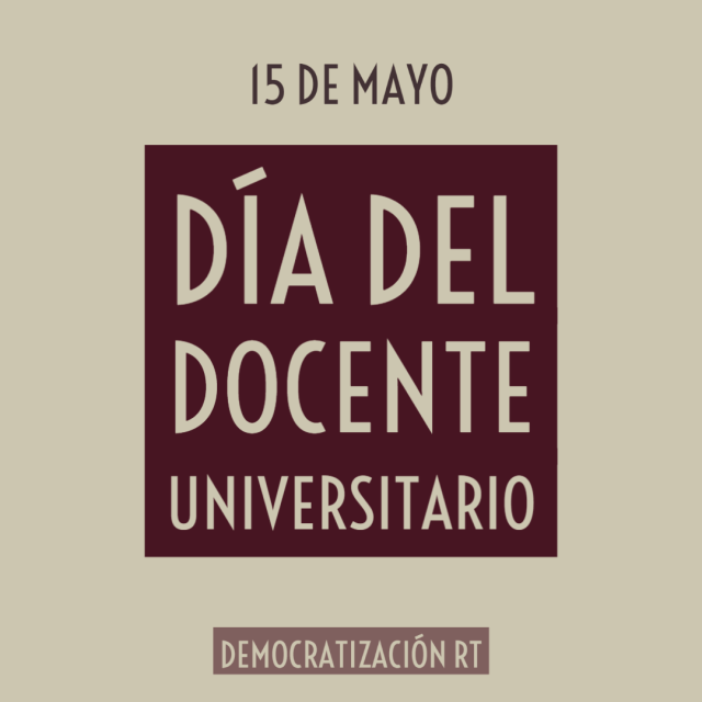 15 de mayo – Día del docente universitario