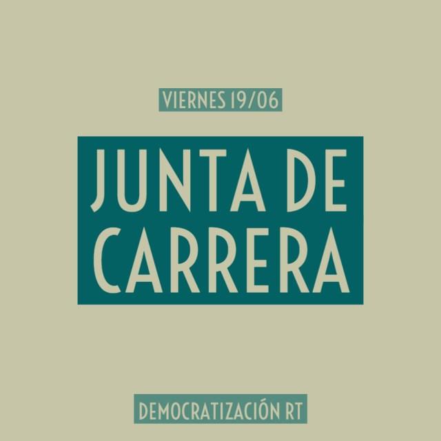 Junta de Carrera – Viernes 19/06