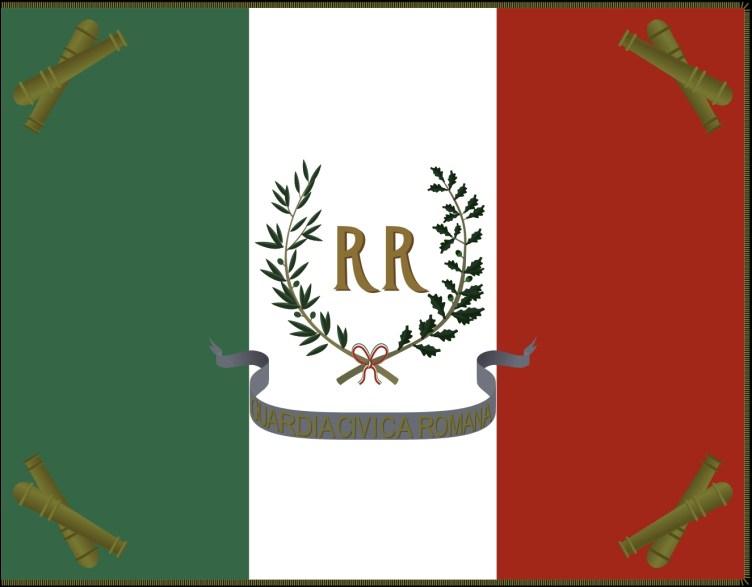 Bandiera della Guardia Civica della Repubblica Romana