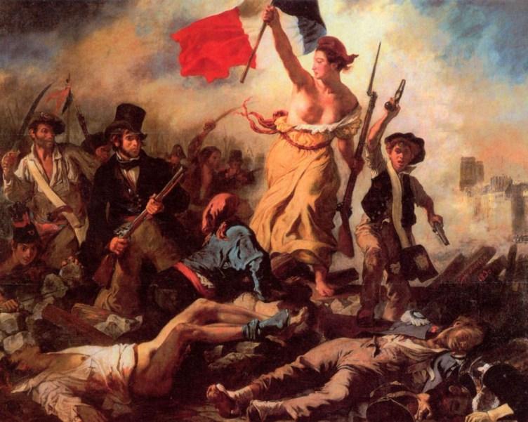 Eugène Delacroix. La libertà che guida il popolo,1830.