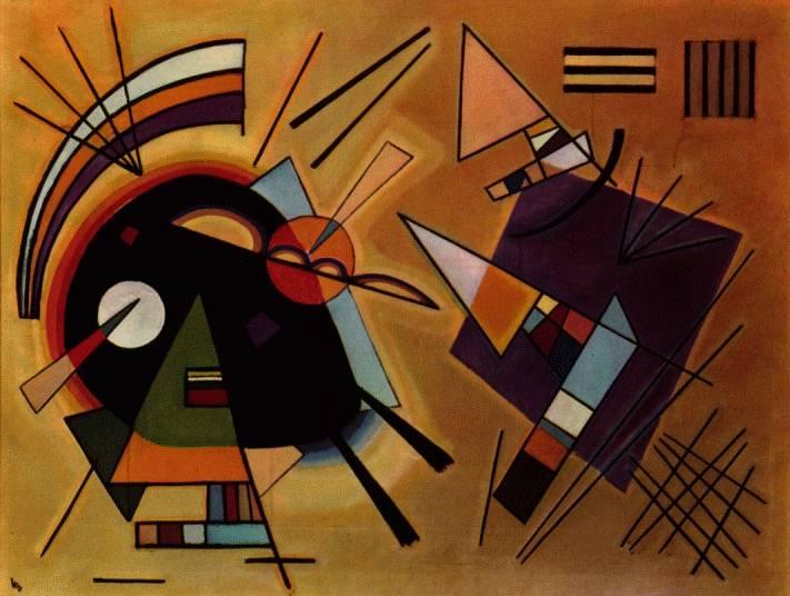 Vassili Kandinsky. Black and Violet, 1923