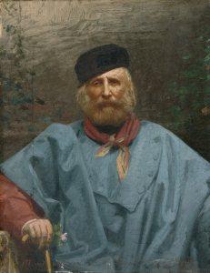 Giuseppe Garibaldi. Dipinto di Giuseppe Ugolini, sec. XIX.