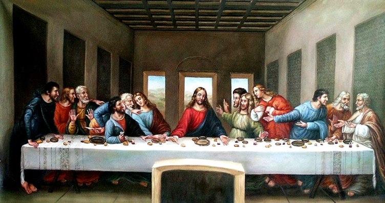 L'ultima cena. Leonardo da Vinci. 1494-1498