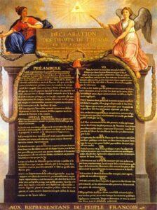 Dichiarazione dei diritti dell'Uomo e del Cittadino. 1789.