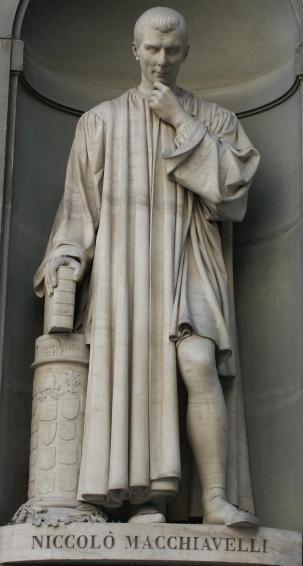 Statua di Machiavelli, Galleria degli Uffizi a Firenze