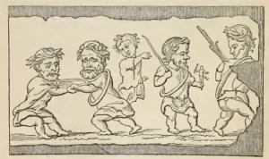 Figura 13. Graffito pompeiano di un interno di un negozio. Processione trionfale. Immagine tratta dal testo citato di Wright.