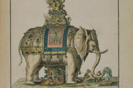 L'architettura fantastica nell'elefante trionfale di Ribart