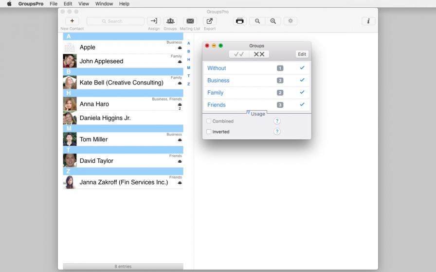 GroupsPro 5.1.1 Mac 破解版 - 联系人和邮件管理
