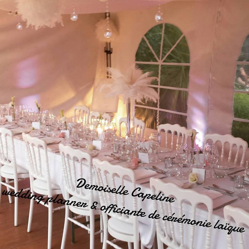 Béatrice et François - Demoiselle capeline wedding planner Rennes