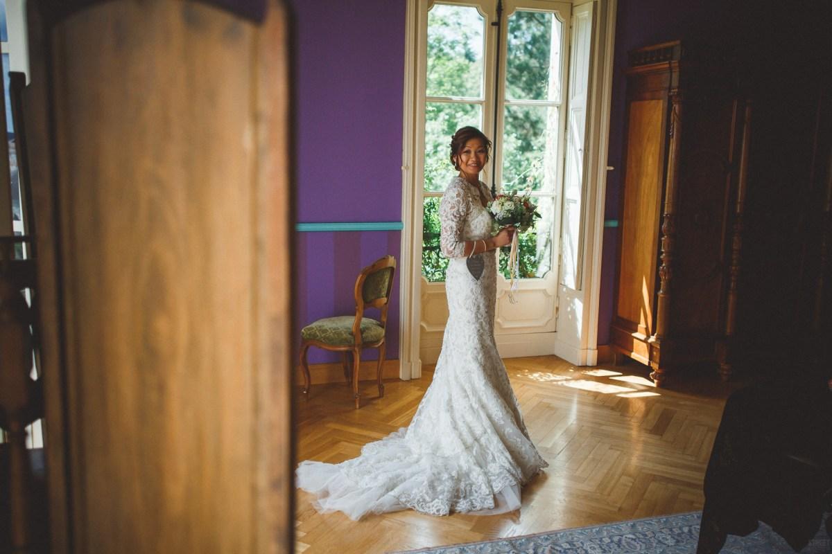 jolie mariée au château de Bézyl en Ille-et-Vilaine (Bretagne)