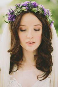 couronne fleurs violettes wedding planner bretagne