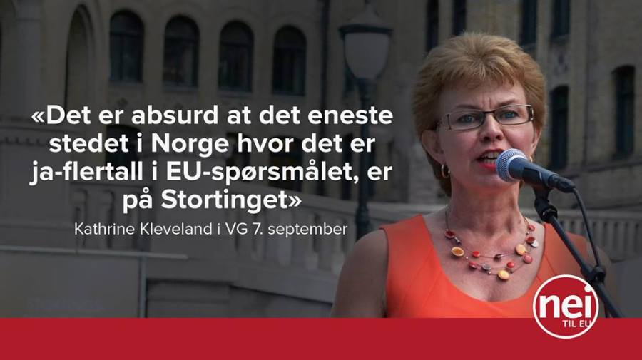 Er det flere forsamlinger i Norge der flertallet er for EU enn Stortinget og Ja til EUs landsmøte?