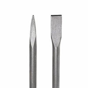 GHP Set of 2 Point & Flat 1-1/8″ Hex Shank 16″ Jack Hammer SDS Chisel Bits