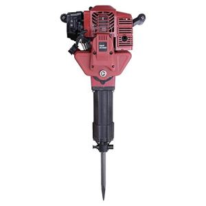 Gas Powered Demolition Jack Hammer One Man Earth Drill with Point and Flat Chisel, Punch Single Cylinder, Gloves, Air Cooling