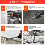 VISLONE 21V Brushless Cordless Rotary Hammer Drill 1 Inch SDS Plus Variable Speed Impact Hammer Kit 20000mAh Battery 4 Functions Variable-Speed Adjustable Handle with Storage Case